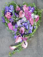 Purple and Pink Swinging Heart